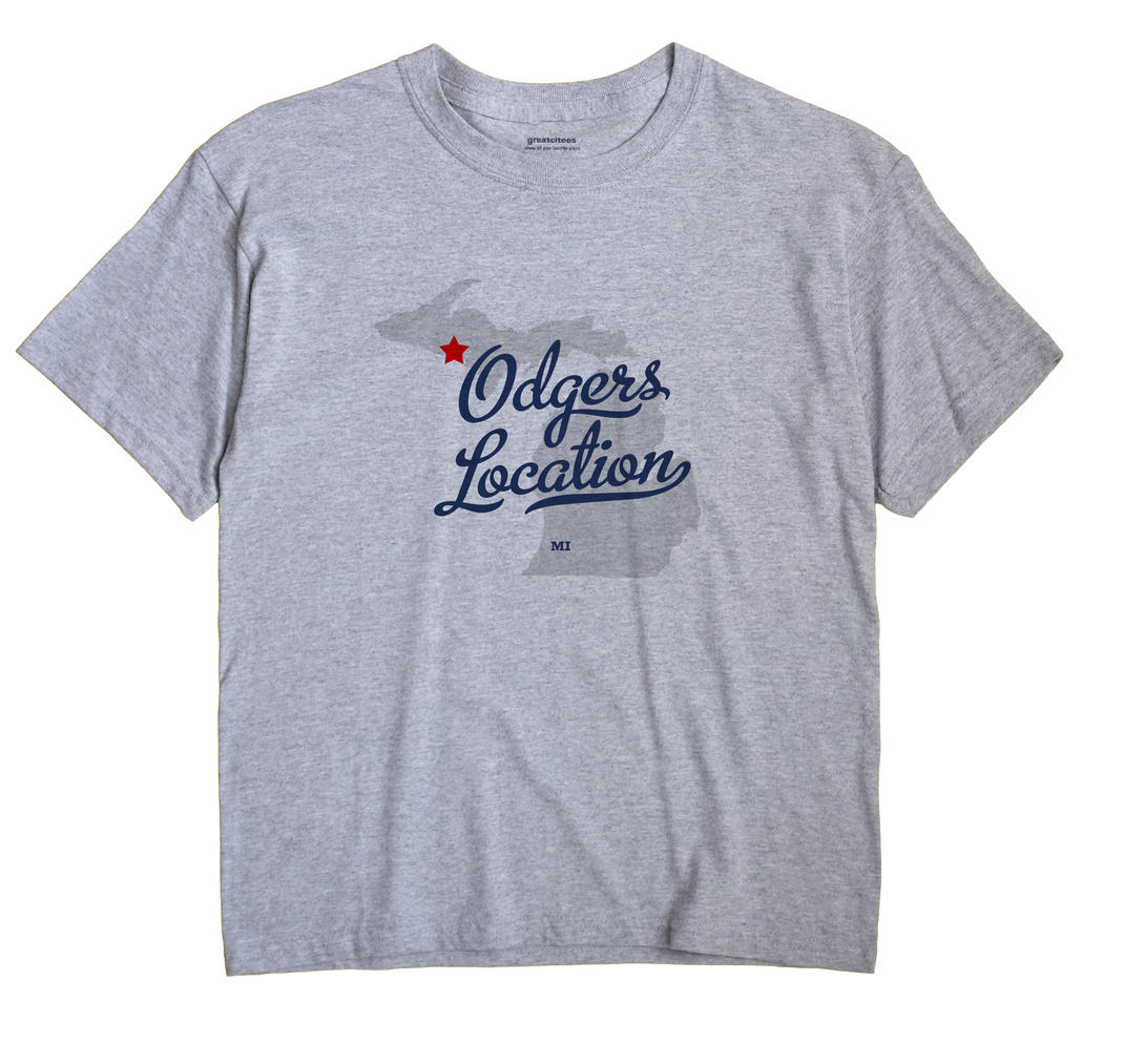 Odgers Location, Michigan MI Souvenir Shirt