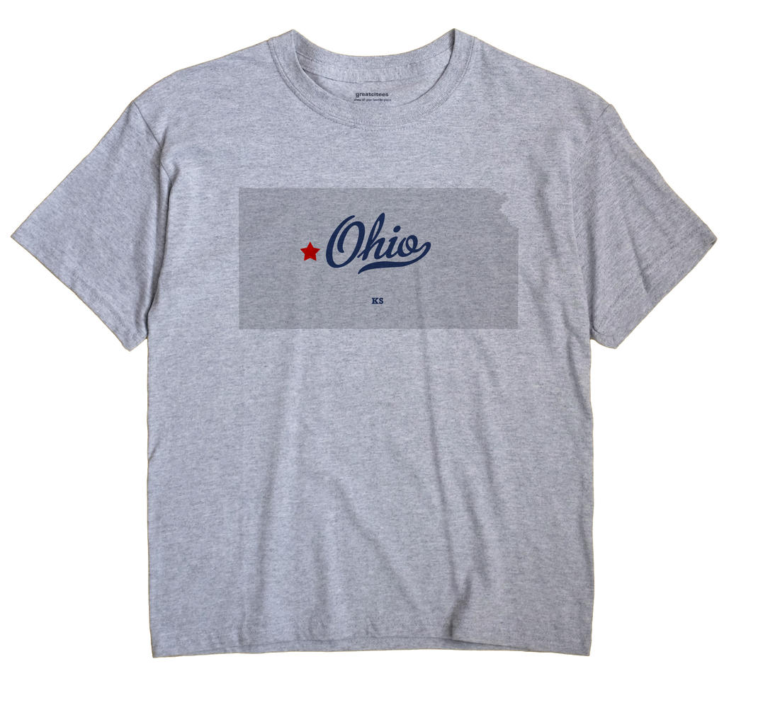 Ohio, Ness County, Kansas KS Souvenir Shirt