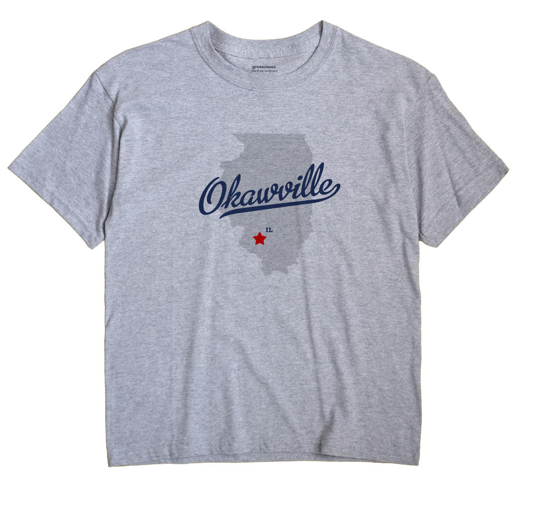 Okawville Illinois IL T Shirt METRO WHITE Hometown Souvenir