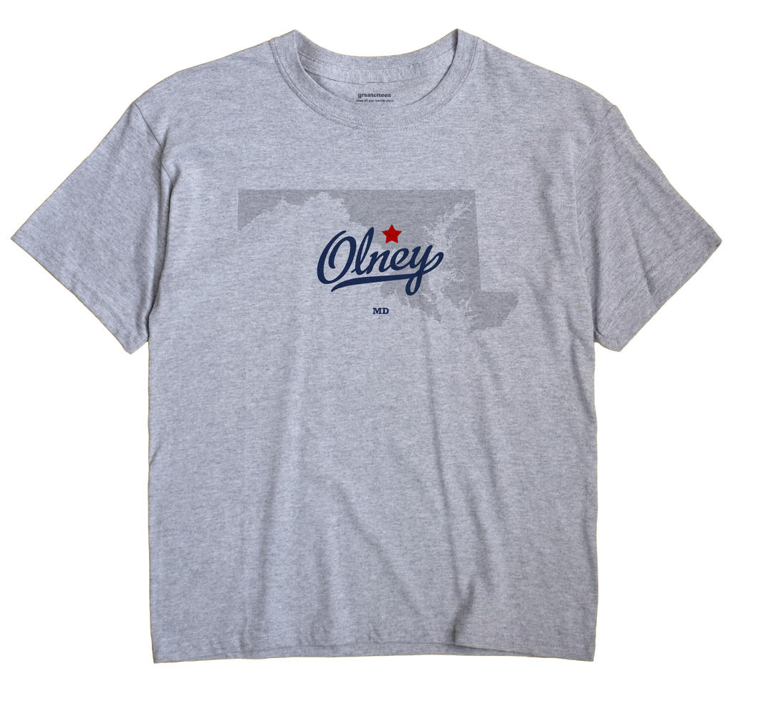 Olney Maryland MD T Shirt METRO WHITE Hometown Souvenir