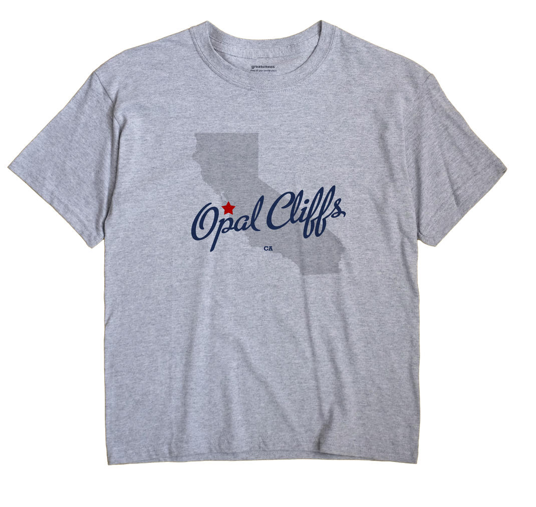 Opal Cliffs California CA T Shirt METRO WHITE Hometown Souvenir
