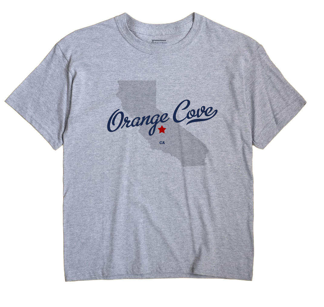 Orange Cove California CA T Shirt METRO WHITE Hometown Souvenir