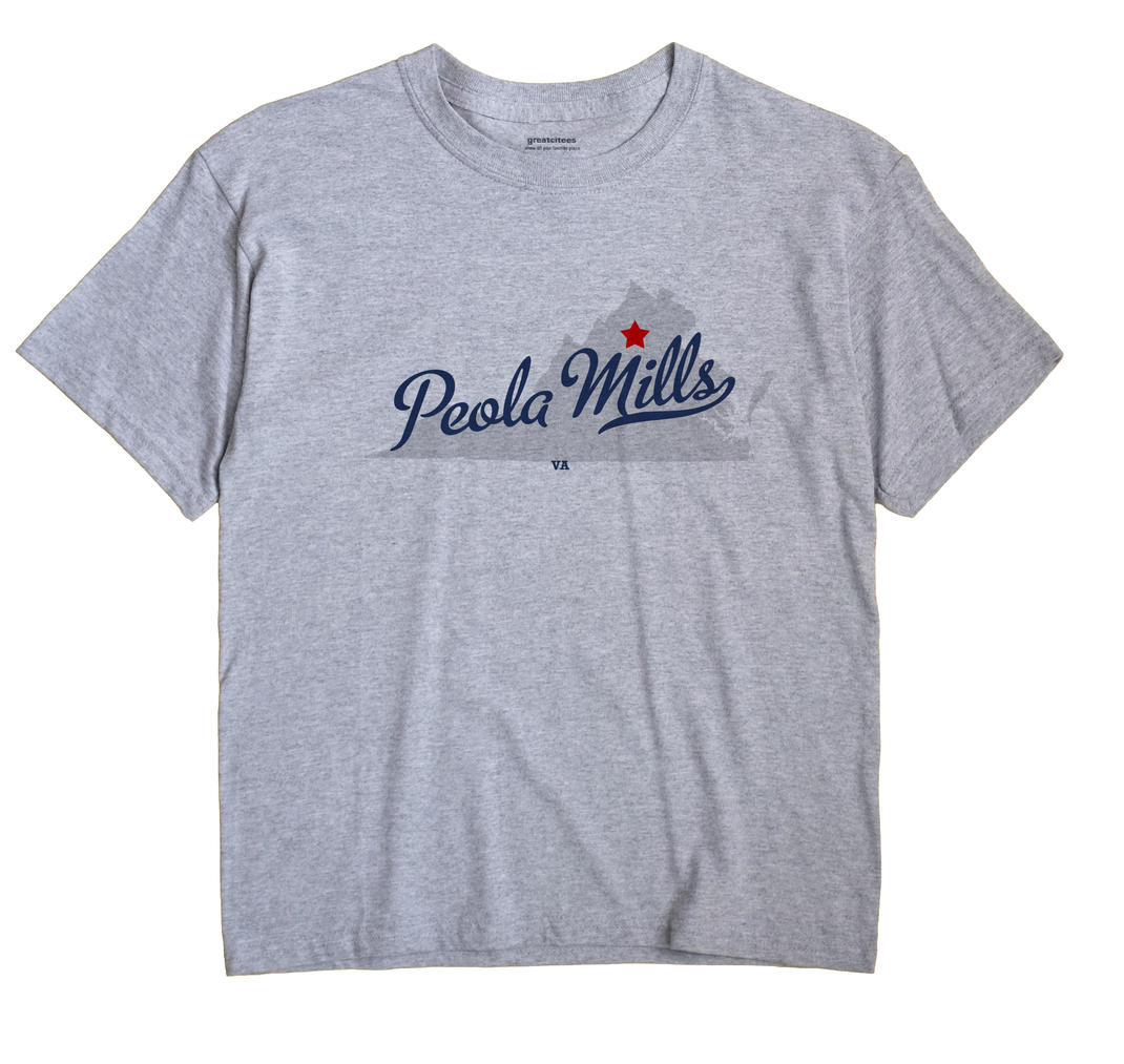 Peola Mills, Virginia VA Souvenir Shirt