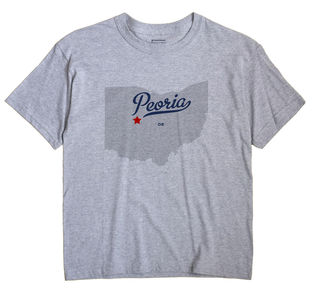 Peoria, Union County, Ohio OH Souvenir Shirt