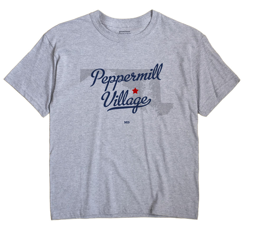 Peppermill Village, Maryland MD Souvenir Shirt