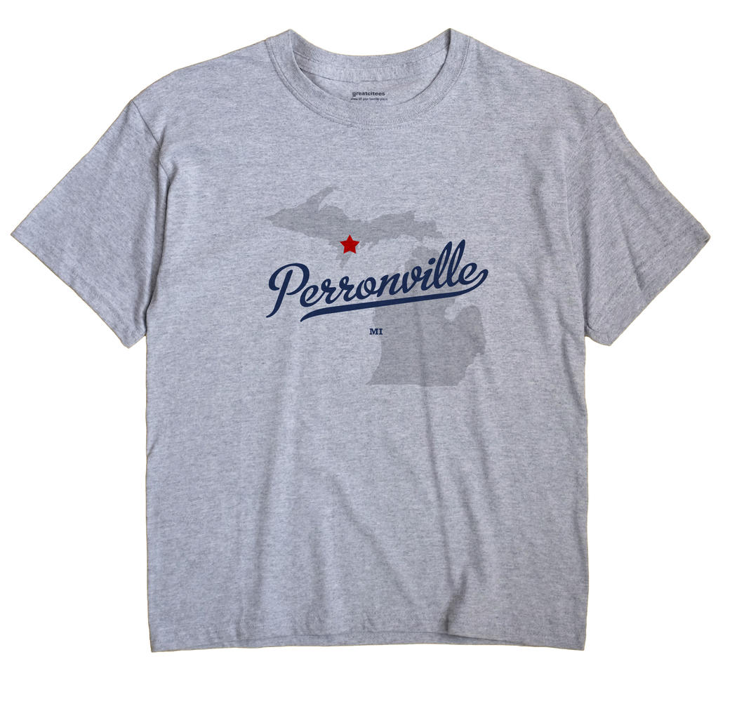 Perronville, Michigan MI Souvenir Shirt
