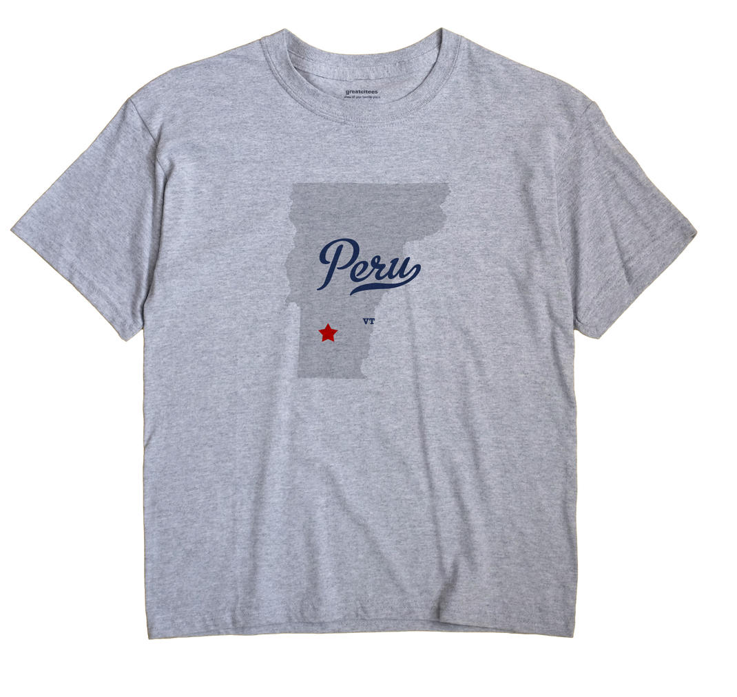 Peru, Vermont VT Souvenir Shirt