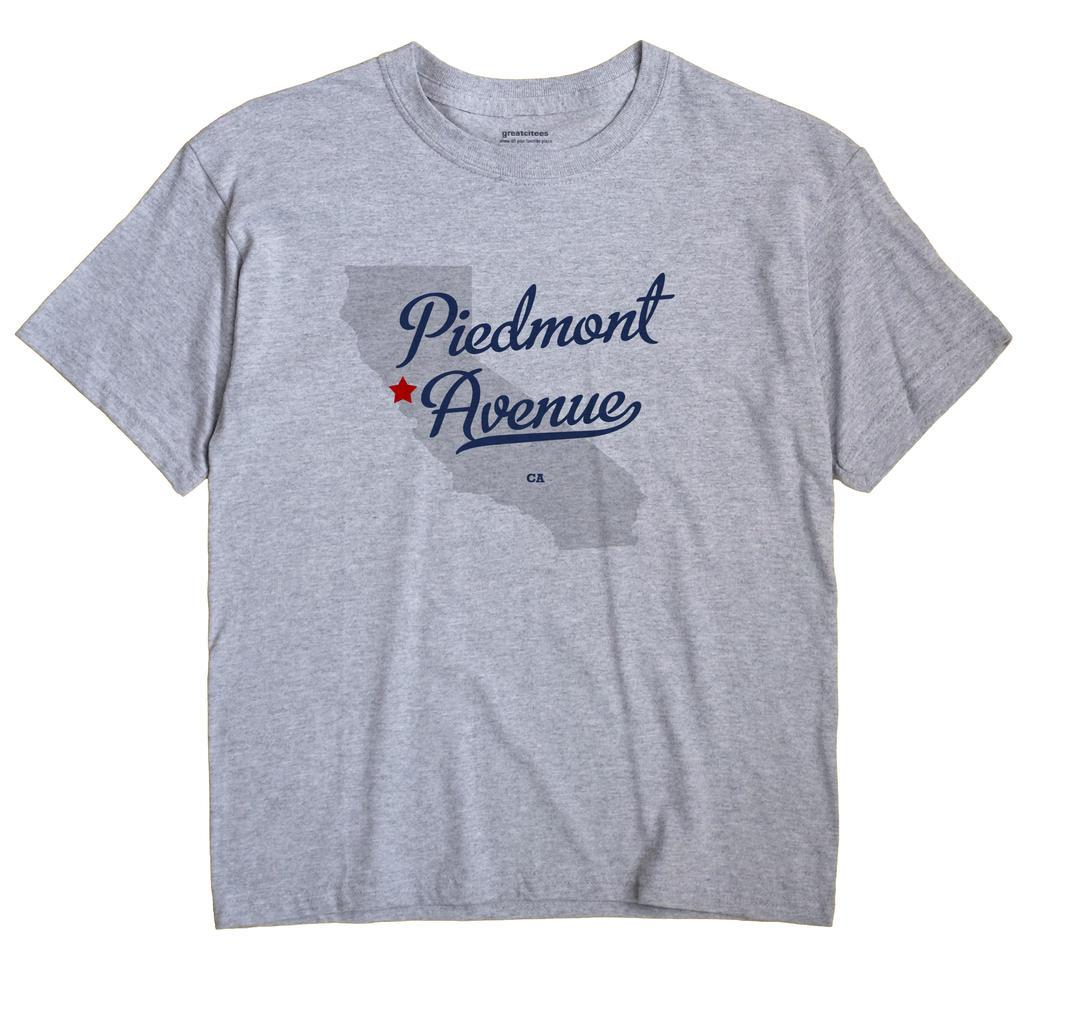 Piedmont Avenue, California CA Souvenir Shirt