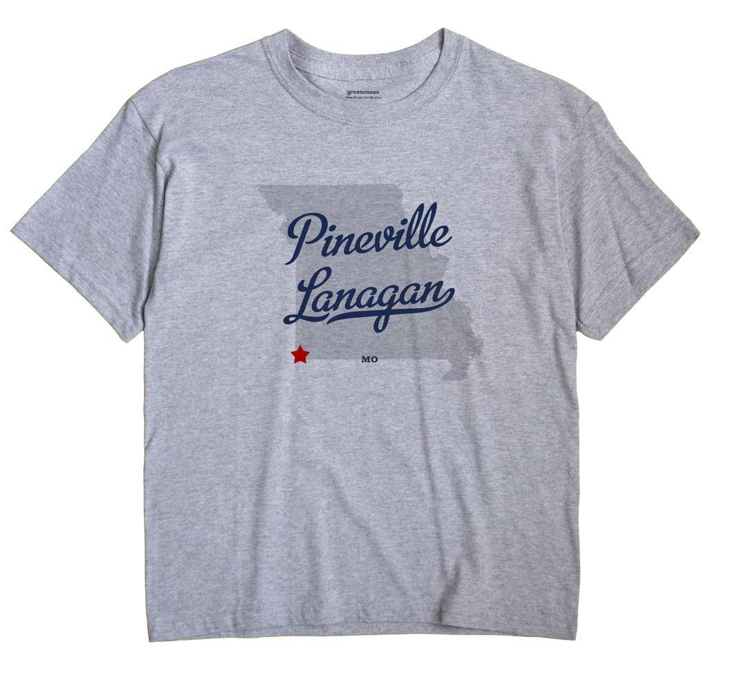Pineville Lanagan, Missouri MO Souvenir Shirt
