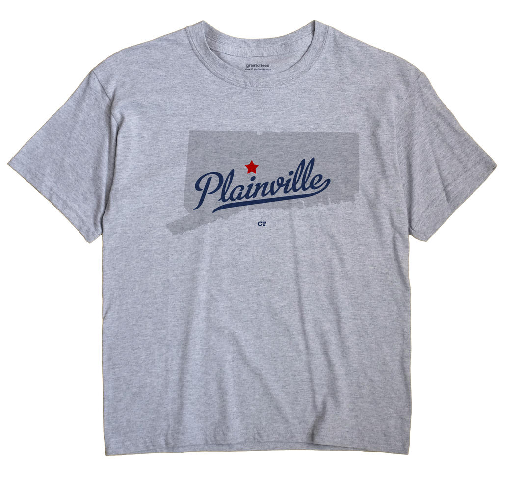 Plainville Connecticut CT T Shirt METRO WHITE Hometown Souvenir