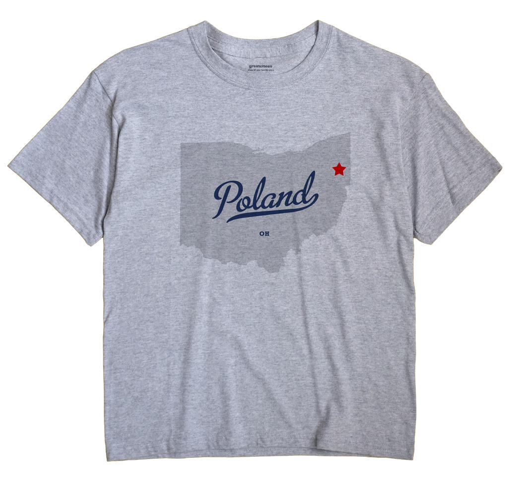 Poland Ohio OH T Shirt METRO WHITE Hometown Souvenir