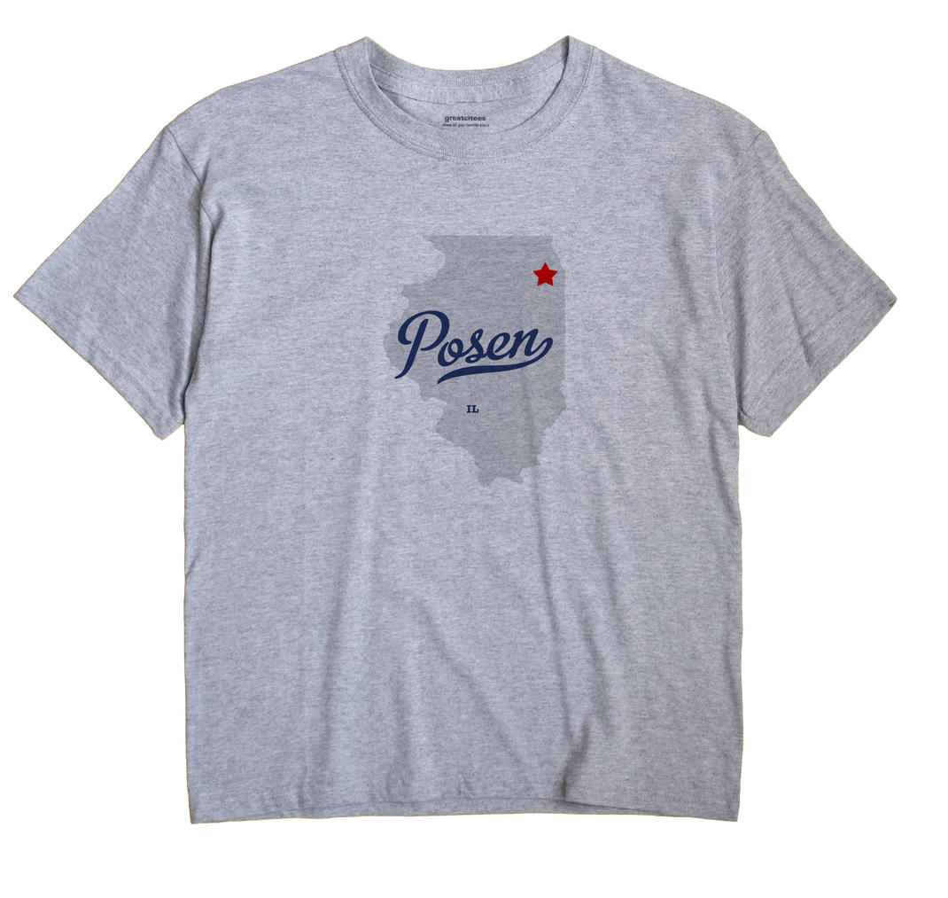 Posen Illinois IL T Shirt METRO WHITE Hometown Souvenir