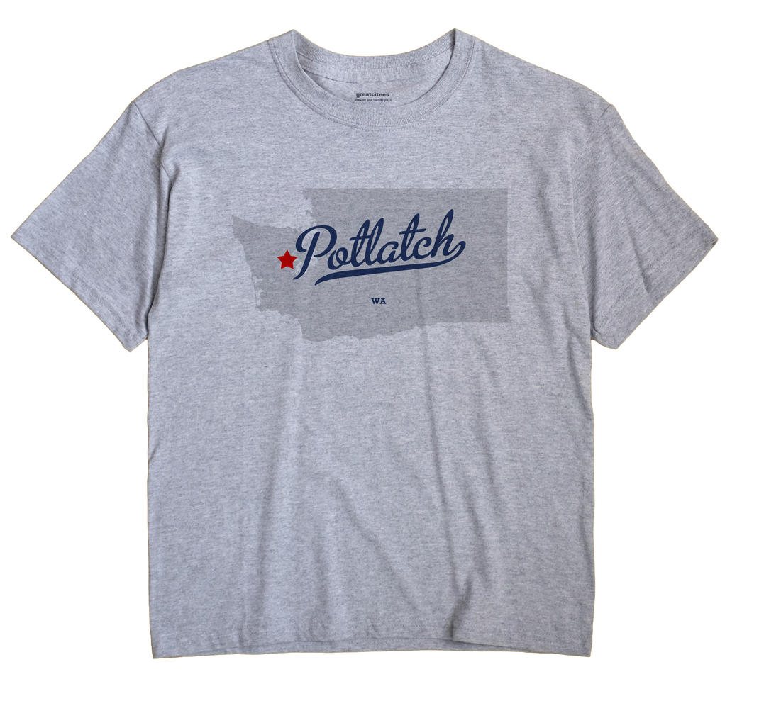 Potlatch, Washington WA Souvenir Shirt