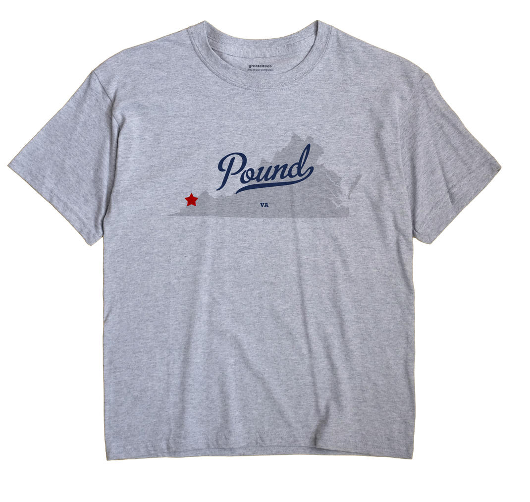 Pound Virginia VA T Shirt METRO WHITE Hometown Souvenir