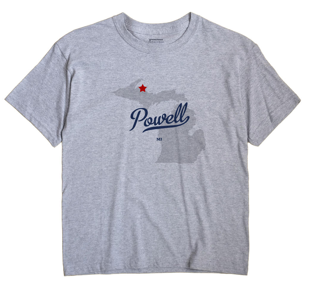 Powell, Michigan MI Souvenir Shirt