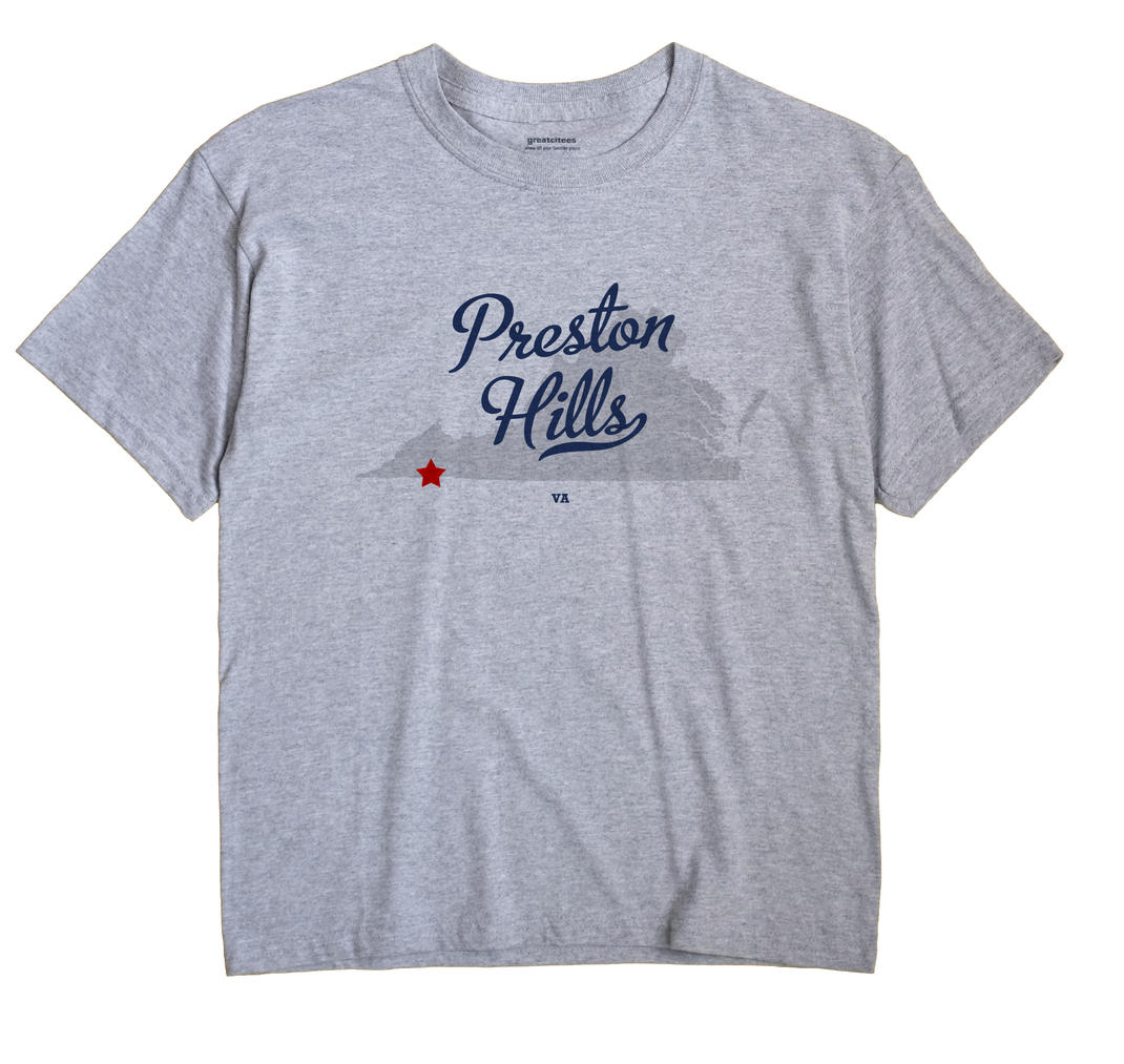 Preston Hills, Virginia VA Souvenir Shirt