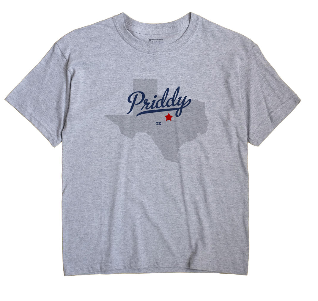 Priddy, Texas TX Souvenir Shirt