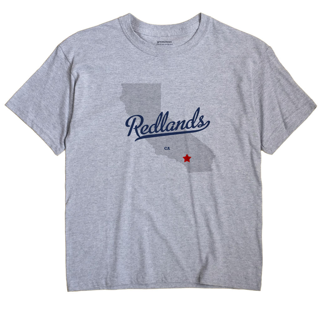 Redlands California CA T Shirt METRO WHITE Hometown Souvenir