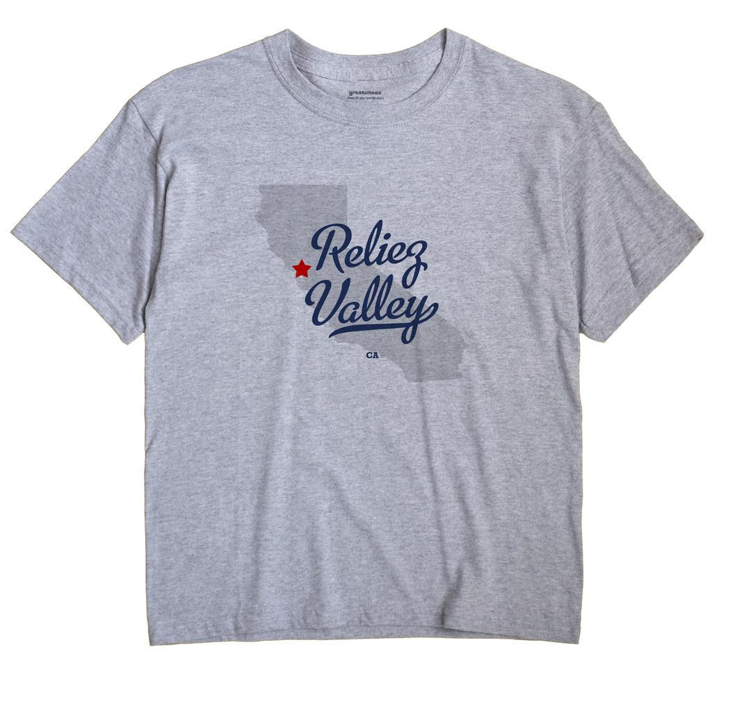 Reliez Valley, California CA Souvenir Shirt