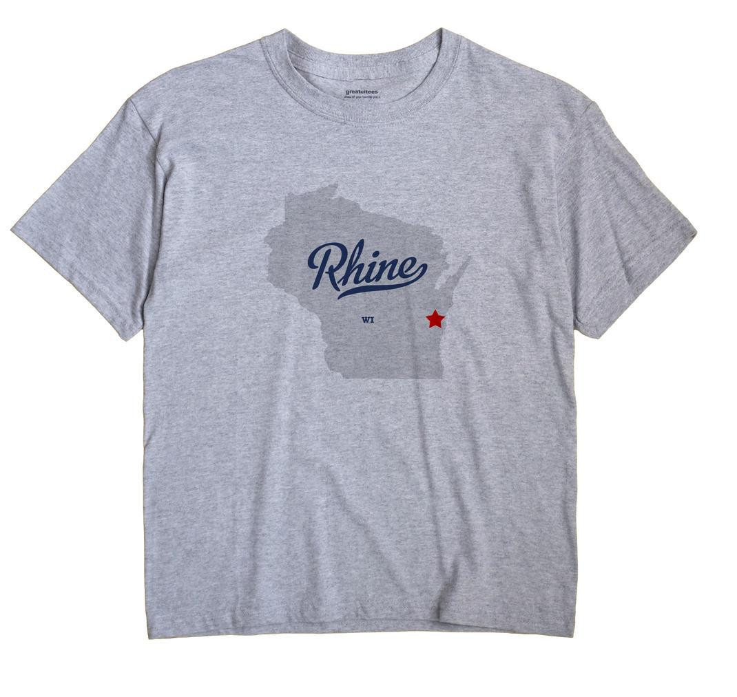 Rhine Wisconsin WI T Shirt METRO WHITE Hometown Souvenir