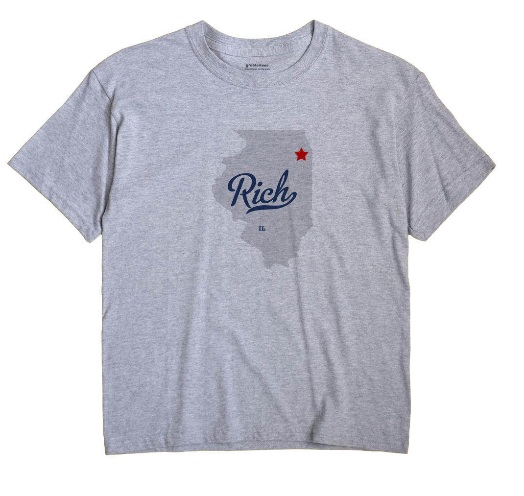 Rich Illinois IL T Shirt METRO WHITE Hometown Souvenir