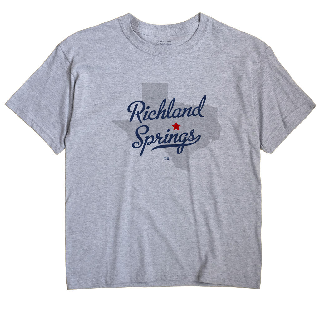 Richland Springs, Texas TX Souvenir Shirt