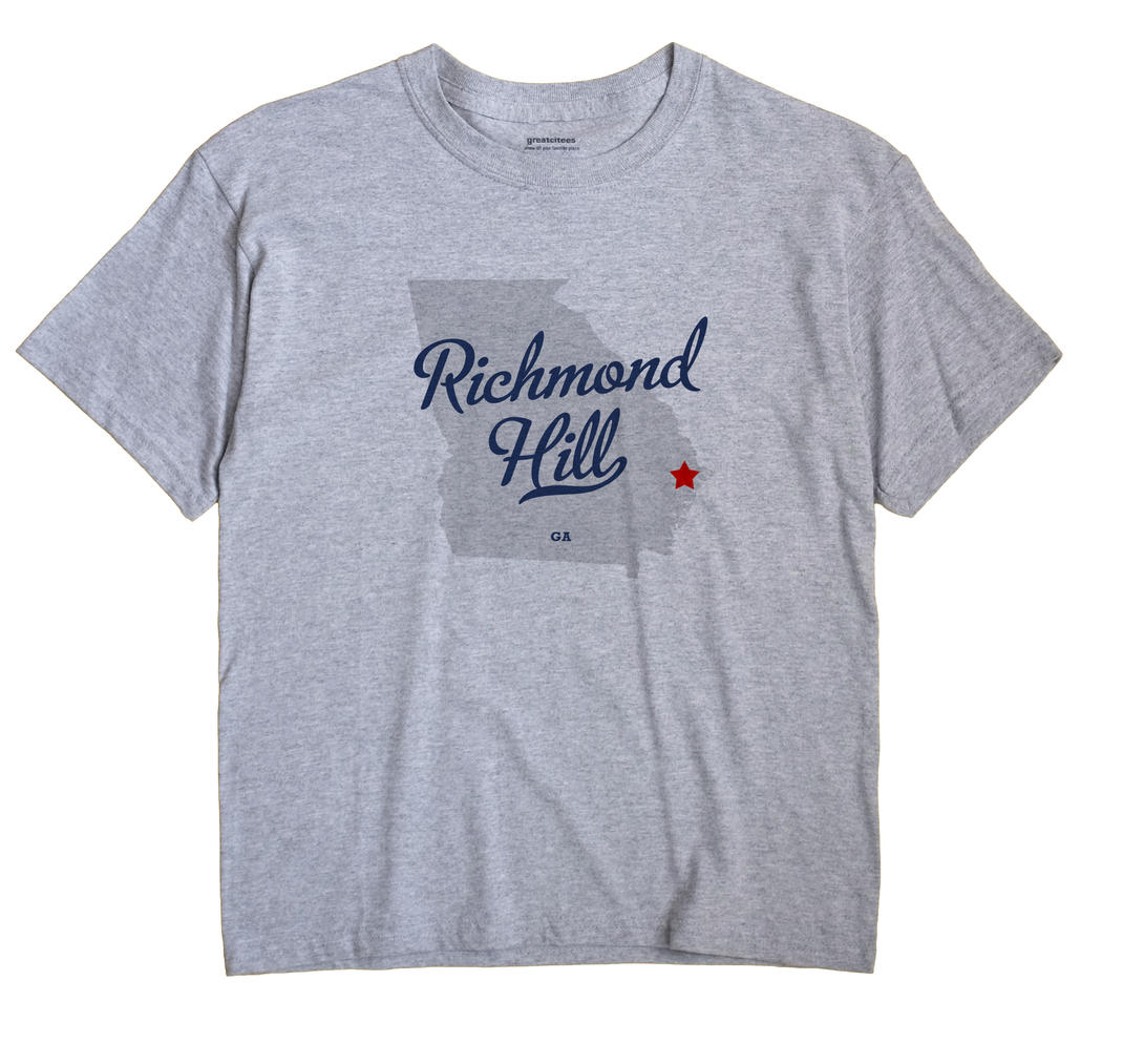 Richmond Hill Georgia GA T Shirt METRO WHITE Hometown Souvenir
