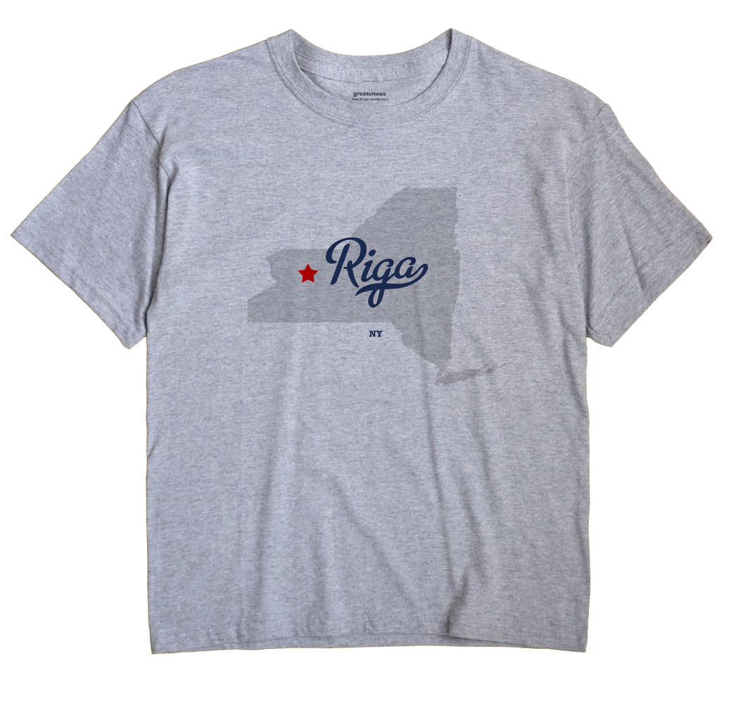 Riga New York NY T Shirt METRO WHITE Hometown Souvenir
