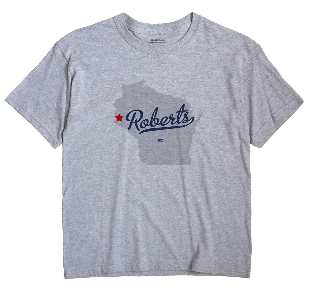 Roberts Wisconsin WI T Shirt METRO WHITE Hometown Souvenir