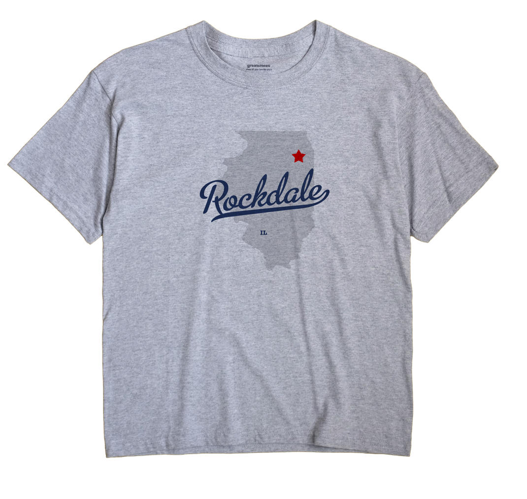 Rockdale Illinois IL T Shirt METRO WHITE Hometown Souvenir