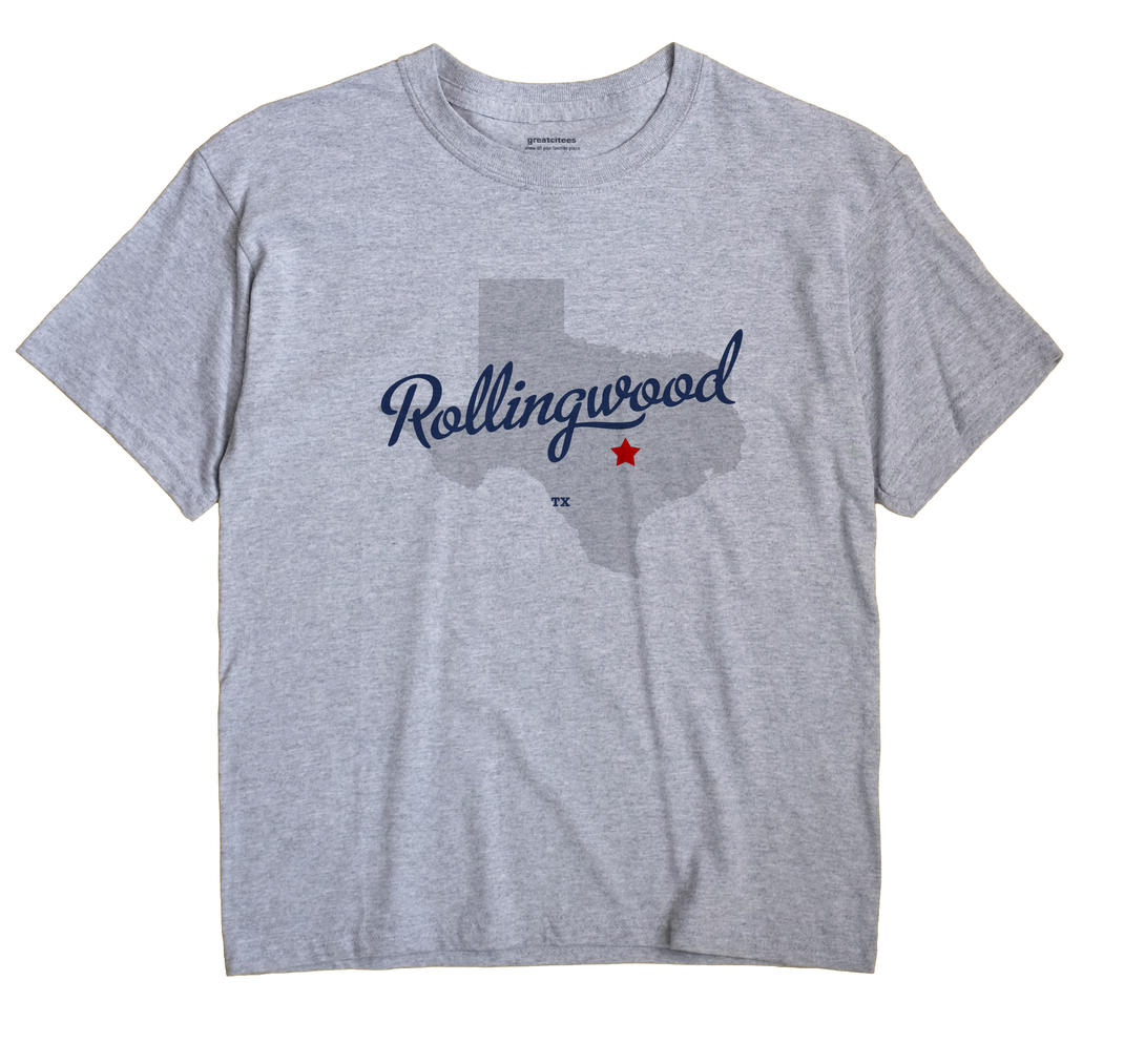 Rollingwood Texas TX T Shirt METRO WHITE Hometown Souvenir