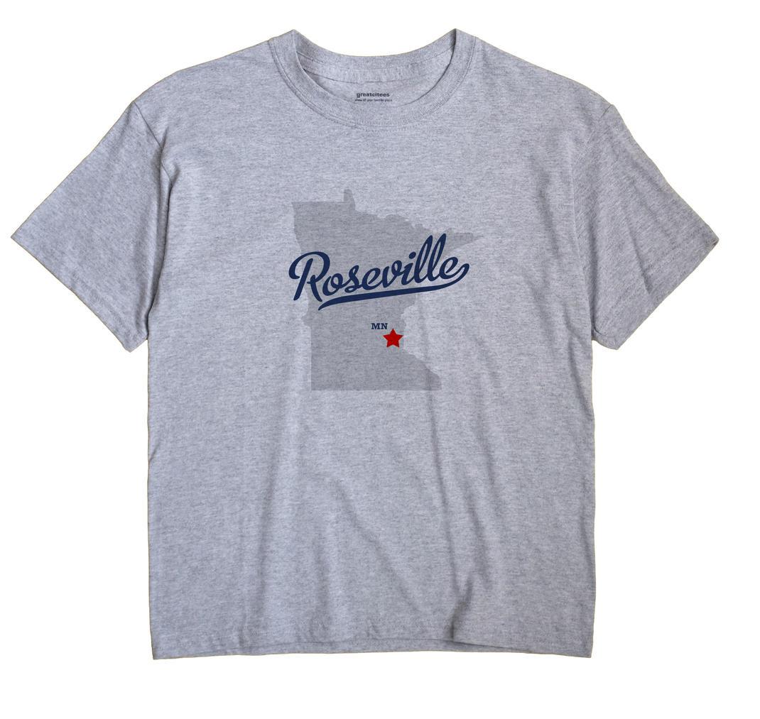 Roseville Minnesota MN T Shirt METRO WHITE Hometown Souvenir