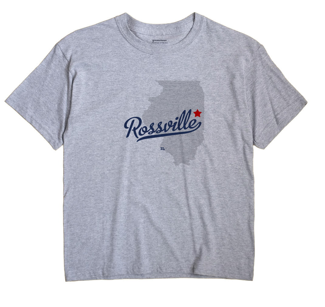 Rossville Illinois IL T Shirt METRO WHITE Hometown Souvenir