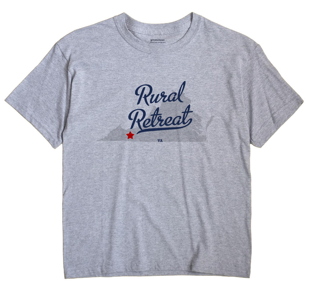 Rural Retreat Virginia VA T Shirt METRO WHITE Hometown Souvenir