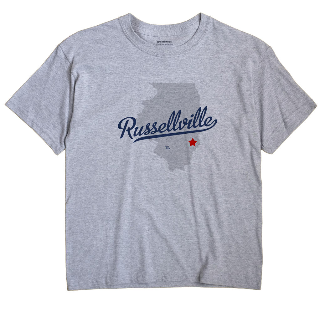 Russellville, Lawrence County, Illinois IL Souvenir Shirt