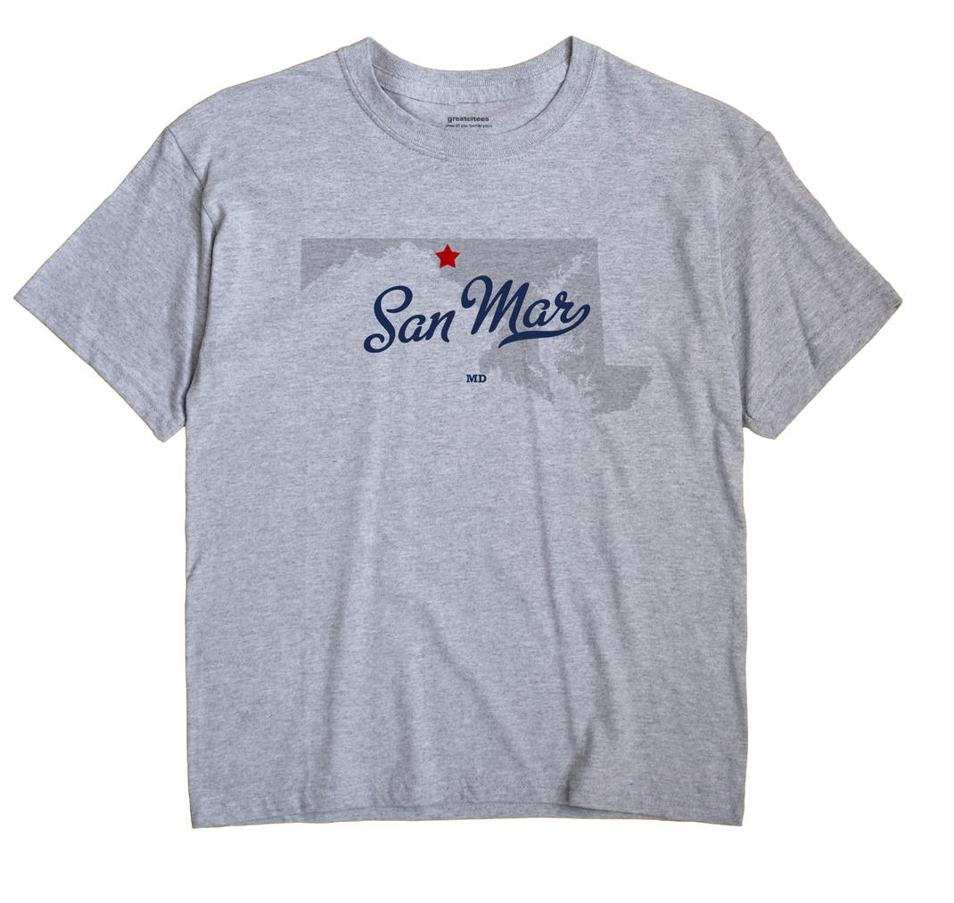 San Mar, Maryland MD Souvenir Shirt