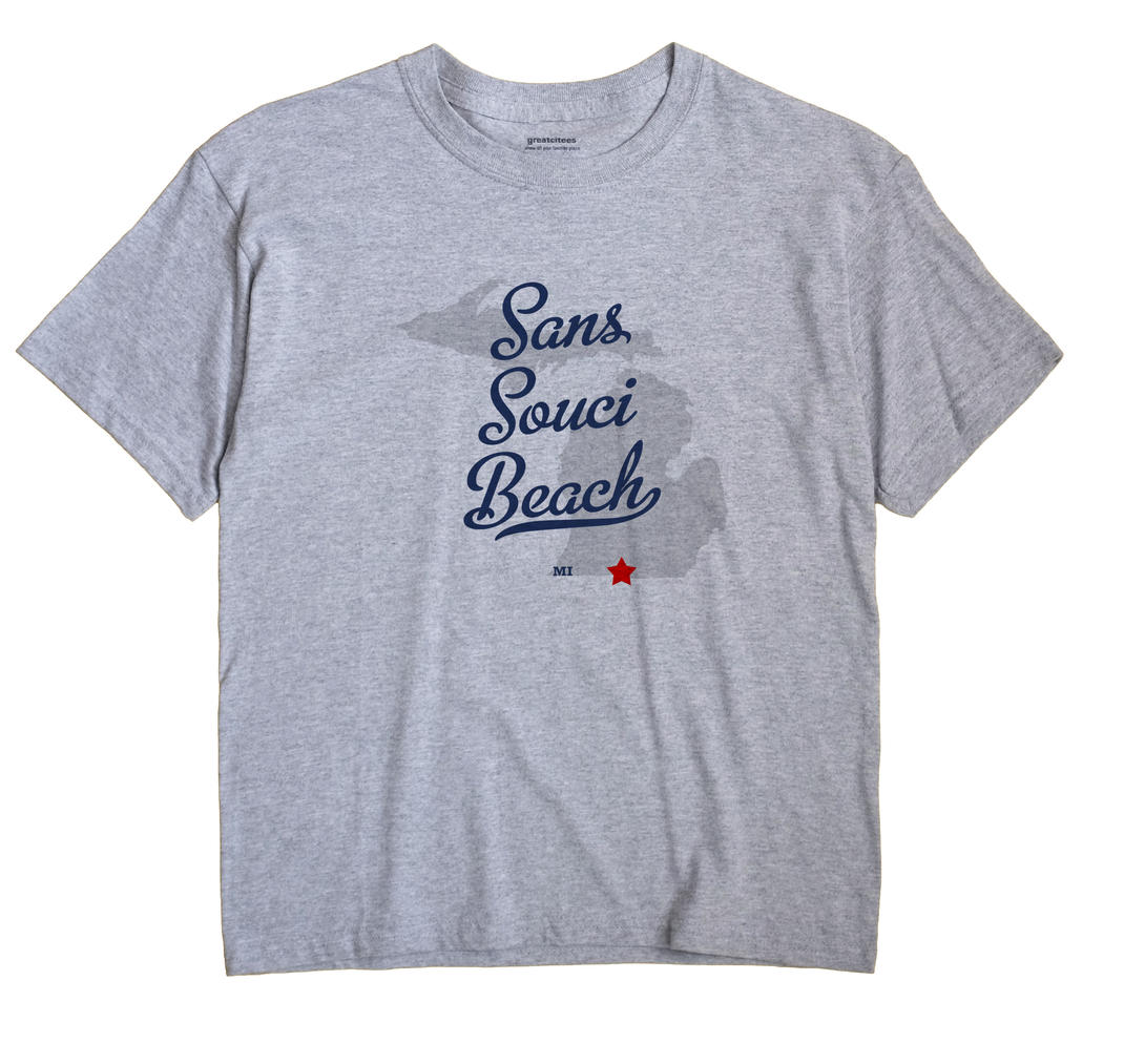 Sans Souci Beach, Michigan MI Souvenir Shirt