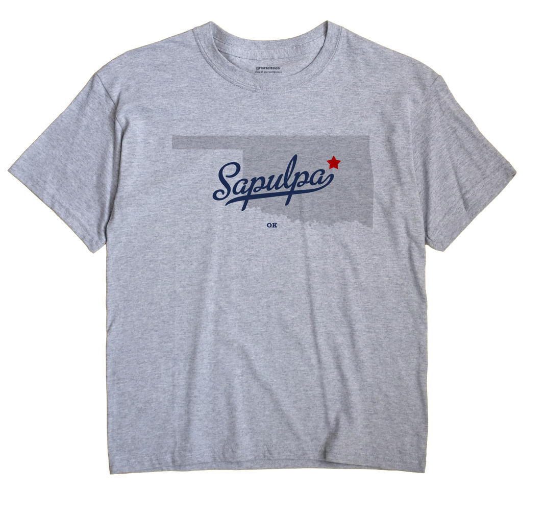 Sapulpa Oklahoma OK T Shirt METRO WHITE Hometown Souvenir
