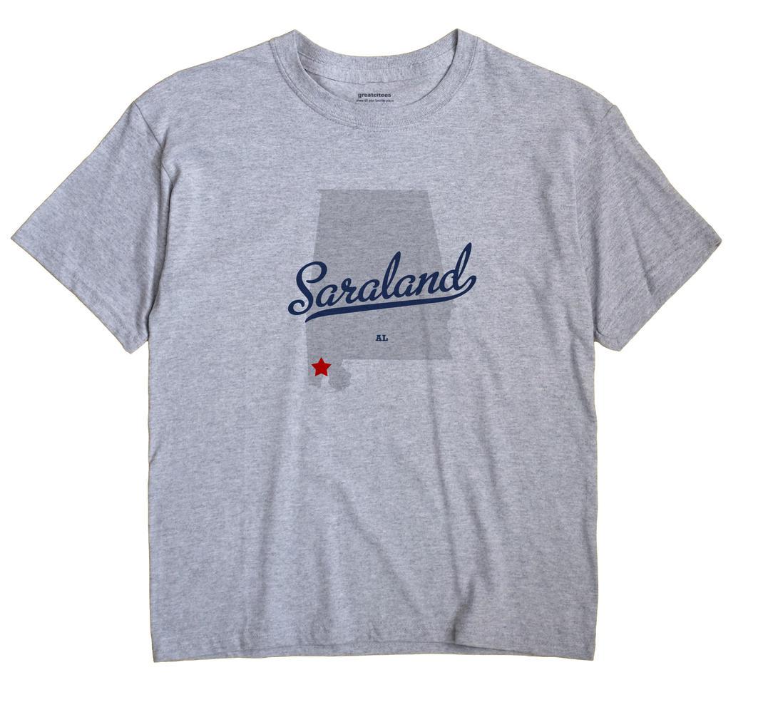 Saraland Alabama AL T Shirt METRO WHITE Hometown Souvenir