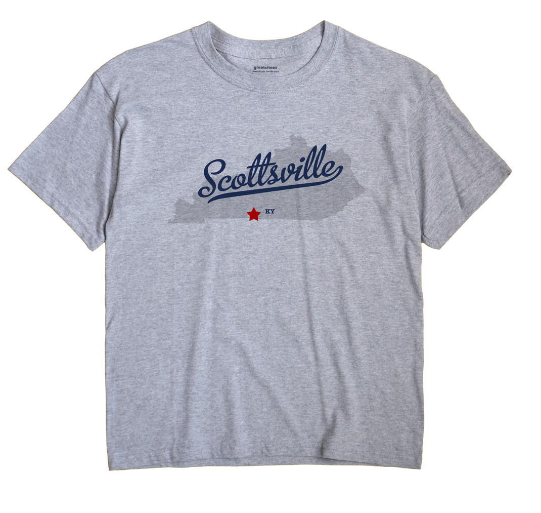 Scottsville Kentucky KY T Shirt METRO WHITE Hometown Souvenir