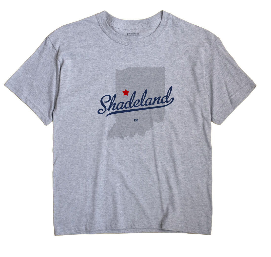 Shadeland Indiana IN T Shirt METRO WHITE Hometown Souvenir