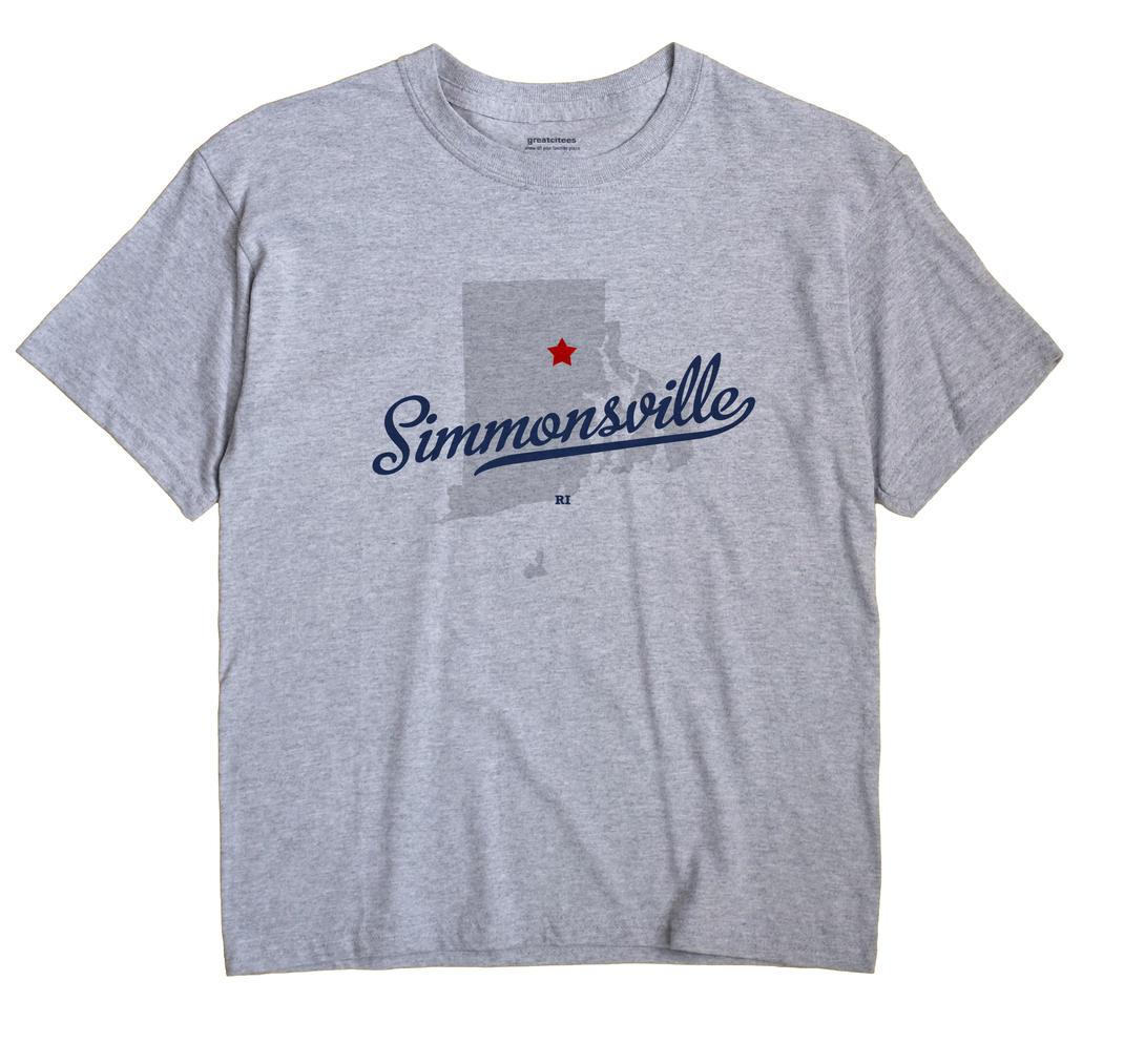 Simmonsville, Rhode Island RI Souvenir Shirt