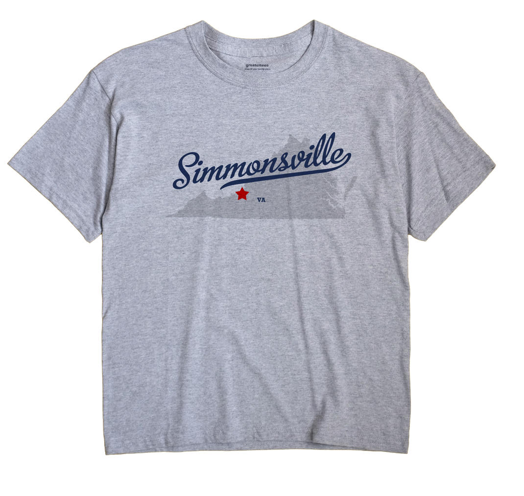 Simmonsville, Virginia VA Souvenir Shirt