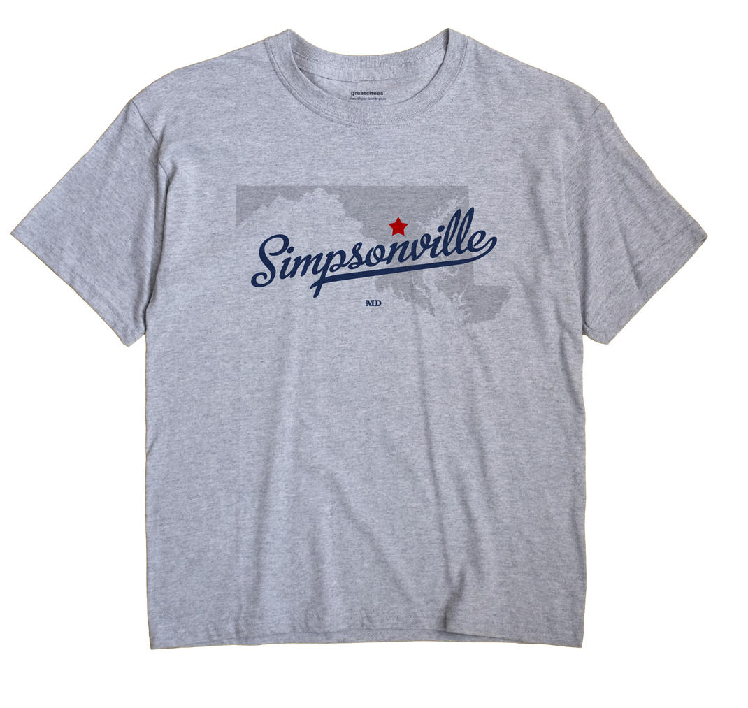 Simpsonville, Maryland MD Souvenir Shirt