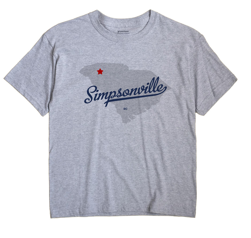 Simpsonville, South Carolina SC Souvenir Shirt