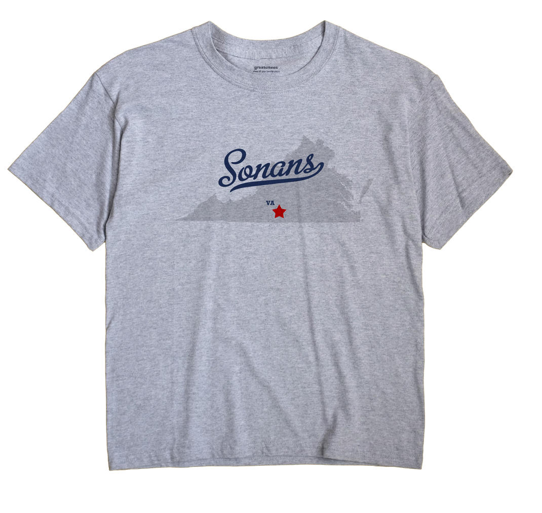 Sonans, Virginia VA Souvenir Shirt