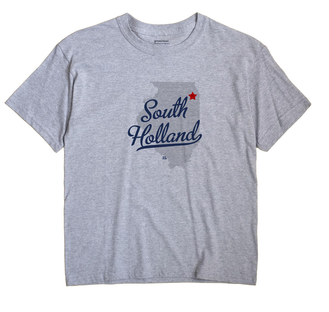 South Holland Illinois IL T Shirt METRO WHITE Hometown Souvenir