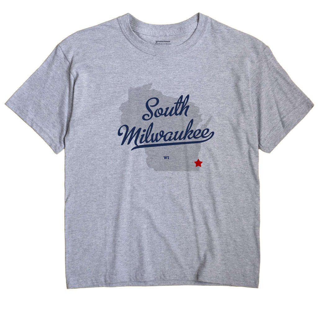 South Milwaukee Wisconsin WI T Shirt METRO WHITE Hometown Souvenir