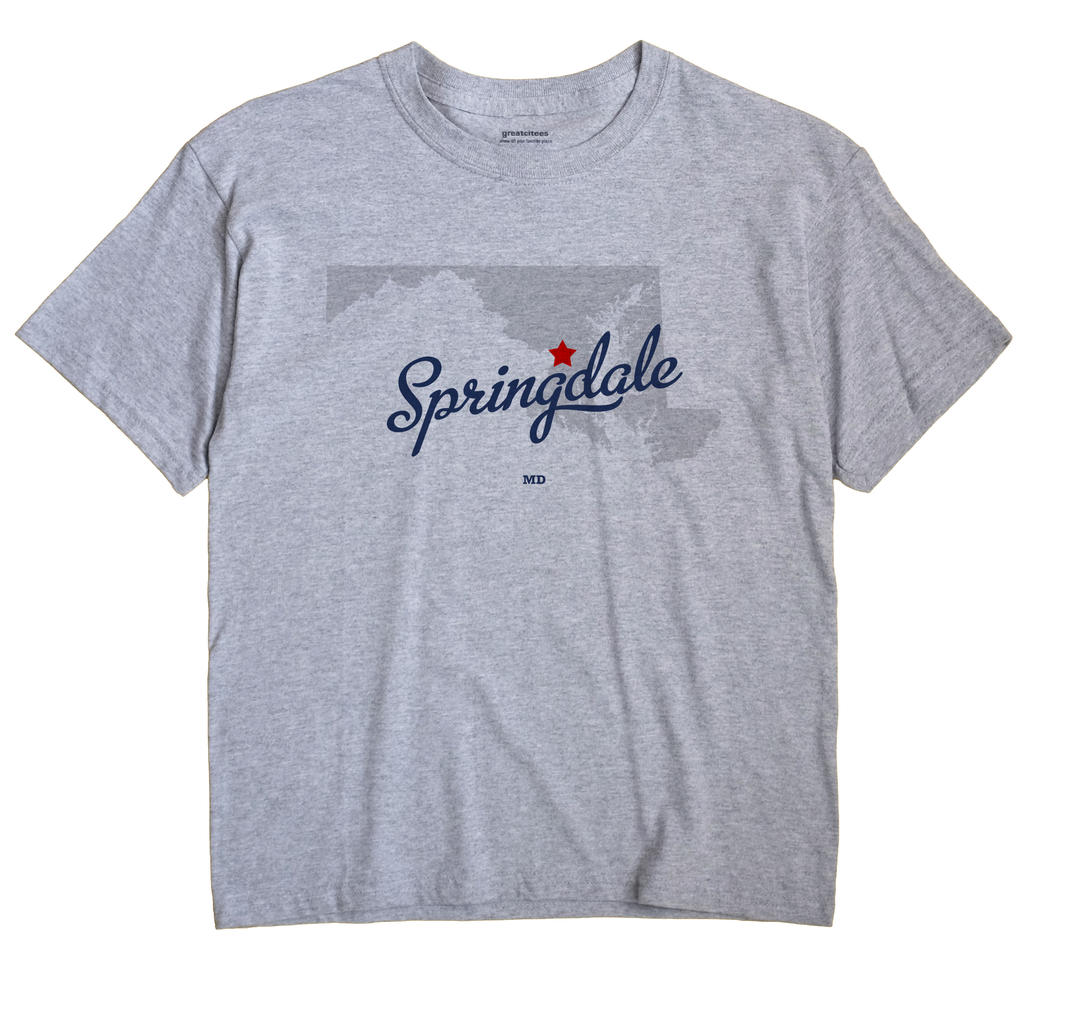 Springdale, Maryland MD Souvenir Shirt