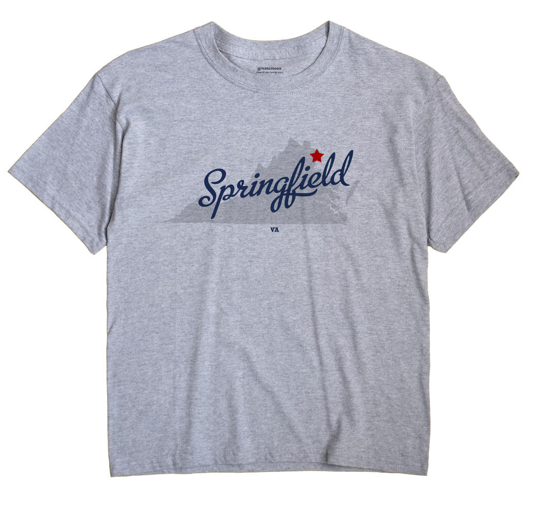 Springfield, Fairfax County, Virginia VA Souvenir Shirt